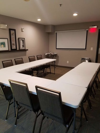 U-shape Seating with Screen | Country Inn & Suites by Radisson, San Antonio Medical Center, TX