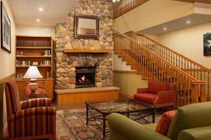Living Room With Fireplace | Country Inn & Suites by Radisson, Bountiful, UT