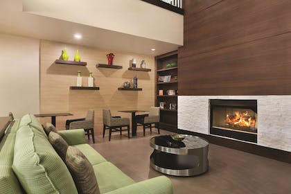 Lobby with Fireplace | Country Inn & Suites by Radisson, Gainesville, FL