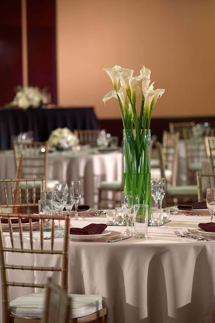 Cumberland ballroom wedding reception | Nashville Airport Marriott