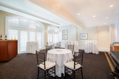 Meeting room bar setup | The Tremont House, A Wyndham Grand Hotel