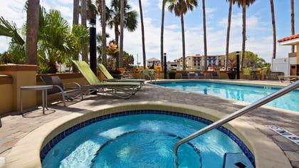 Relax in our hot tub and take in the beautiful views of St. Augustine Beach. | Best Western St. Augustine Beach Inn