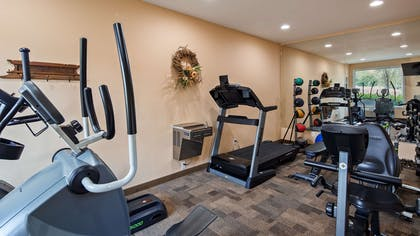 Burn off last night's dinner in our fitness center. | Best Western Lodge At River's Edge
