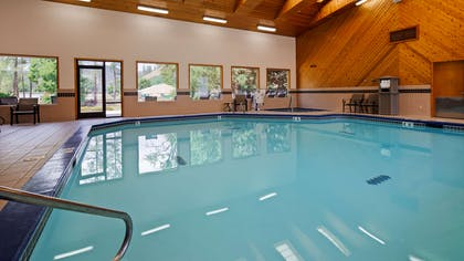 Splash around and have fun with the family in our indoor pool for endless hours of fun. | Best Western Lodge At River's Edge