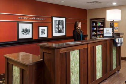 Reception | Hampton Inn & Suites Williamsport-Faxon Exit, PA