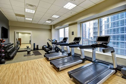 Health club fitness center gym | Embassy Suites by Hilton Chicago Downtown Magnificent Mile