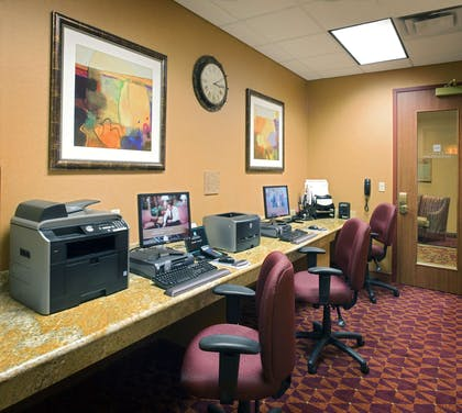 Business Center | Embassy Suites by Hilton East Peoria Riverfront Hotel & Conference Center