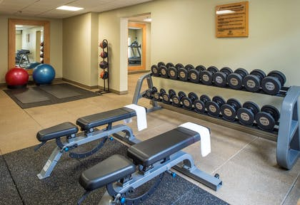Health club fitness center gym | DoubleTree by Hilton Hotel Raleigh-Durham Airport at Research Triangle Park