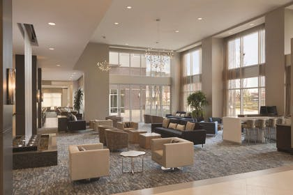 Lobby | Embassy Suites by Hilton The Woodlands at Hughes Landing