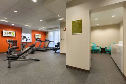 Health club fitness center gym   Home2 Suites by Hilton Champaign / Urbana