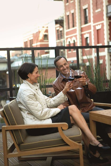 Seating on Terrace | Fairmont Heritage Place, Ghirardelli Square