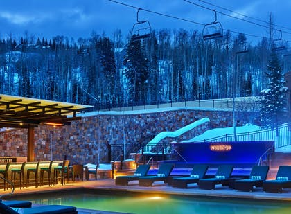 NEST & Pool at Wintertime | Viceroy Snowmass