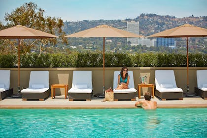 rooftop pool | L'Ermitage Beverly Hills