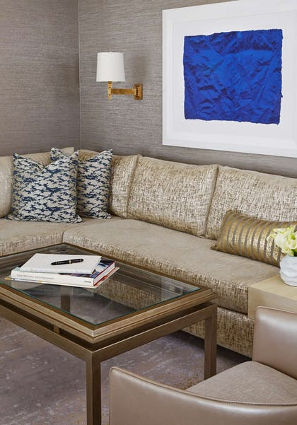 Suite Seating Area Vetical | L'Ermitage Beverly Hills