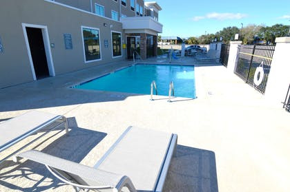 We installed the ADA mobility accessible pool lift system to help those with disabilities not miss out on any of the action. | Best Western Plus Bay City Inn & Suites