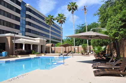 Our outdoor pool is the perfect place to rejuvenate after a day of exploring in Jacksonville. | Best Western Premier Jacksonville Hotel