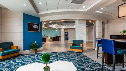 Our lobby area offers an beautiful place to read a book or socialize with colleagues and friends. | Best Western Premier Jacksonville Hotel