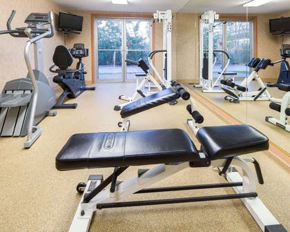 Fitness center with television | Comfort Inn Downtown - Ship Creek