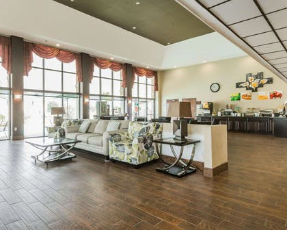Lobby with sitting area | Quality Inn & Suites near Gunter Annex Air Force Base