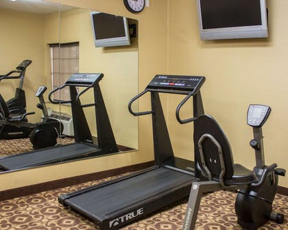 Exercise room with cardio equipment and weights | Comfort Inn & Suites Trussville I-59 exit 141