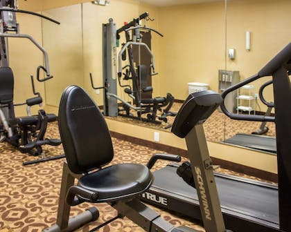 Fitness center with cardio equipment and weights | Comfort Inn & Suites Trussville I-59 exit 141