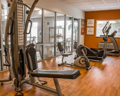 Exercise room with television | Comfort Suites Huntsville Research Park Area
