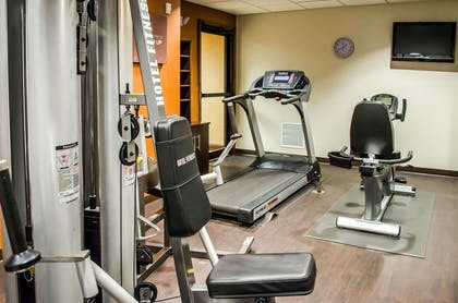 Exercise room with television | Comfort Suites Mobile