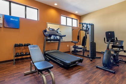 Exercise room with cardio equipment   Comfort Suites Airport South