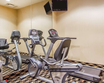 Fitness center with television | Quality Inn & Suites Greenville I-65