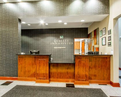 Front desk with friendly staff | Quality Inn & Suites Greenville I-65