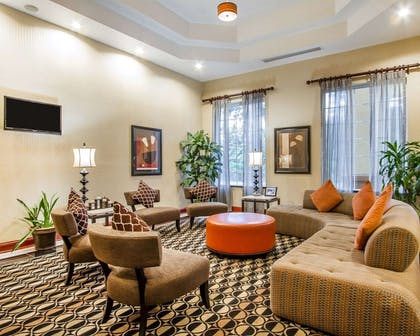 Spacious lobby with sitting area | Quality Inn & Suites Greenville I-65