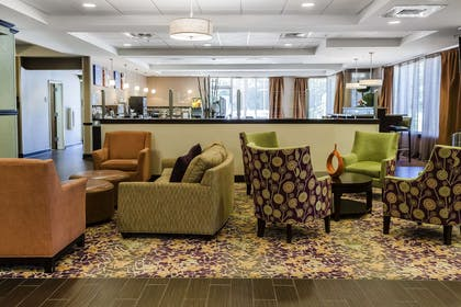 Spacious lobby with sitting area | Comfort Inn & Suites Dothan East