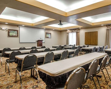 Meeting room with classroom-style setup | Sleep Inn & Suites Springdale West