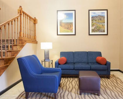 Spacious lobby with sitting area | Quality Inn & Suites I-40 East