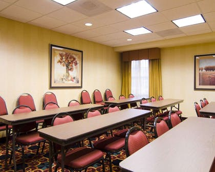 Meeting room with classroom-style setup | MainStay Suites Rogers near I-49