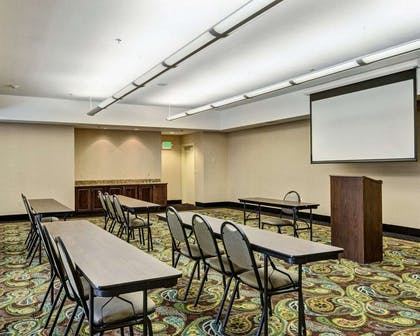 Meeting room with theater-style setup | Comfort Suites near Hot Springs Park