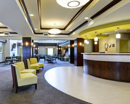 Spacious lobby with sitting area | Comfort Suites Little Rock West