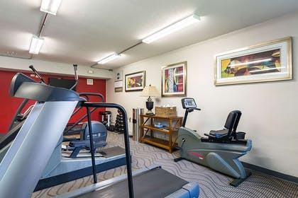 Exercise room with cardio equipment | Clarion Inn & Suites Russellville I-40