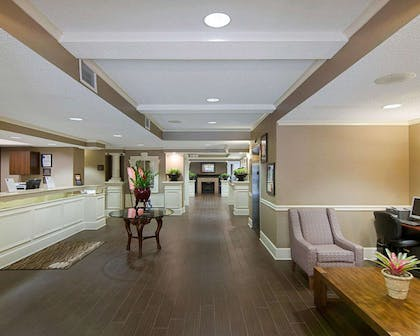 Lobby with fireplace | Comfort Inn West