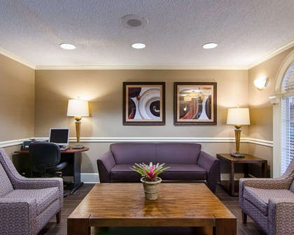 Spacious lobby with sitting area | Comfort Inn West