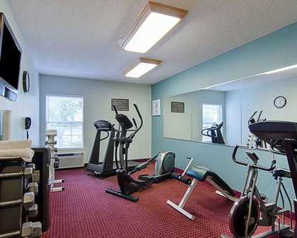 Exercise room with television | Comfort Inn West