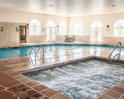 Indoor heated pool with hot tub | Quality Inn & Suites Safford - Mt Graham