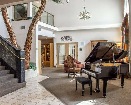 Spacious lobby with sitting area | Quality Inn & Suites Safford - Mt Graham