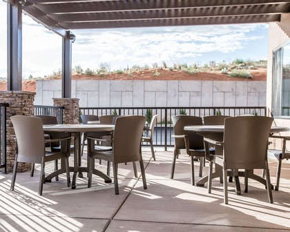 Outdoor sitting area | Sleep Inn & Suites Page at Lake Powell