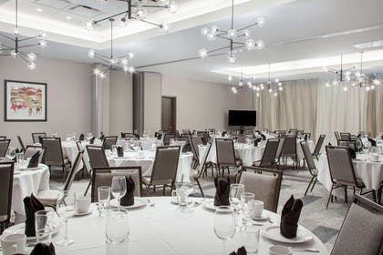 Banquet meeting room with audiovisual equipment | Cambria Hotel Phoenix- North Scottsdale