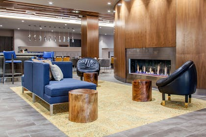 Spacious lobby with sitting area | Cambria Hotel Phoenix- North Scottsdale