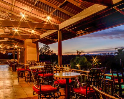 Outdoor dining with sunset views | La Posada Lodge & Casitas, an Ascend Hotel Collection Member