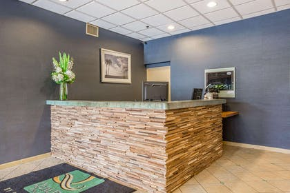Front desk with friendly staff   Quality Inn & Suites Hermosa Beach