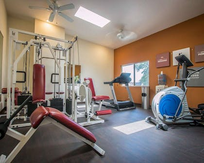 Fitness center with cardio equipment and weights | Comfort Inn & Suites Huntington Beach