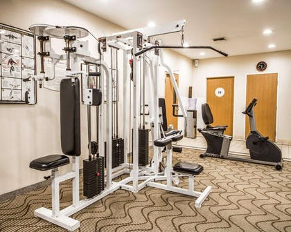 Exercise room with cardio equipment and weights | Comfort Inn & Suites Oakland